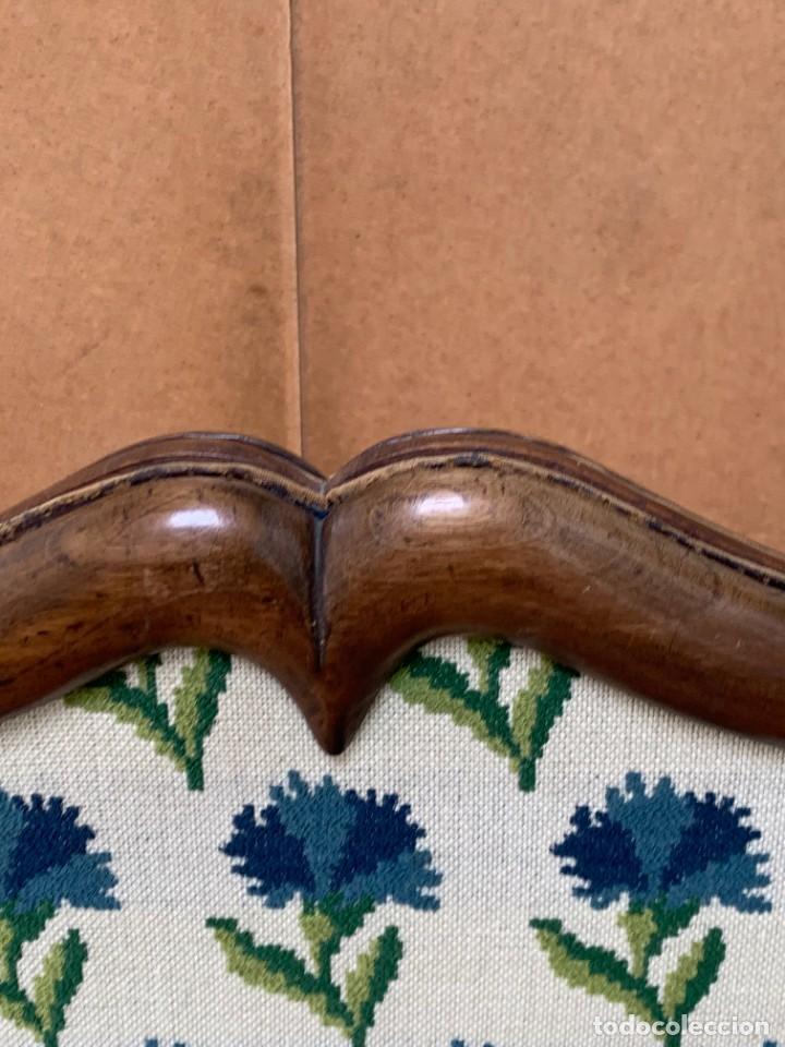 Antigüedades: pantalla chimenea nogal estilo luis Xiii luis XIV sxviii gros point flores 130x77x37cms - Foto 3 - 233707600