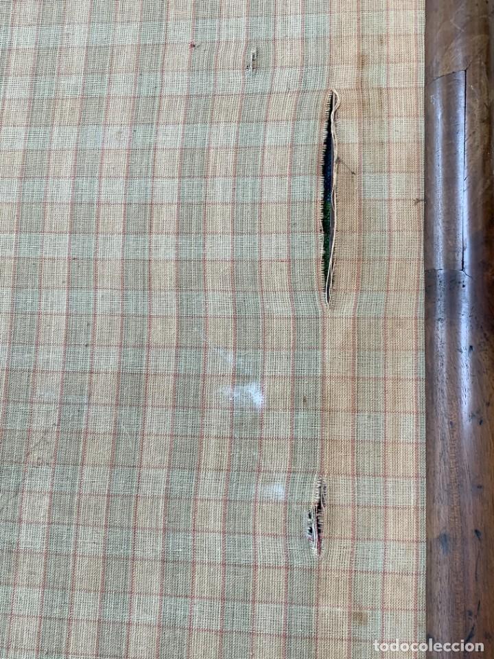 Antigüedades: pantalla chimenea nogal estilo luis Xiii luis XIV sxviii gros point flores 130x77x37cms - Foto 17 - 233707600