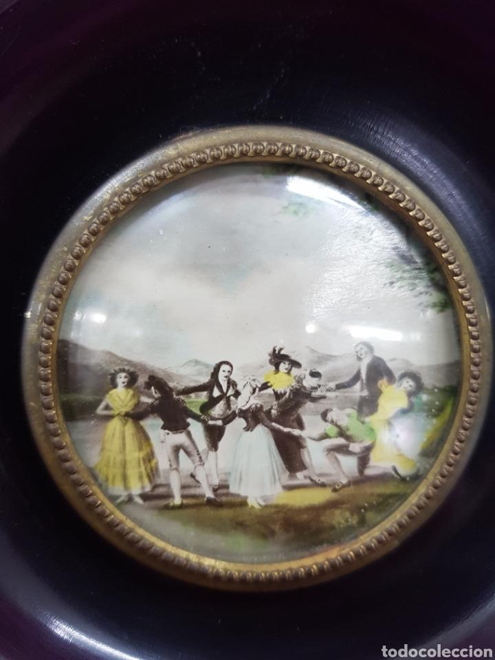 Antigüedades: Lote 2 cuadros lacados y decorados antiguos - Foto 4 - 233737295