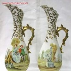 Antigüedades: PAREJA DE JARRONES FRANCES SEVRES. Lote 233755830