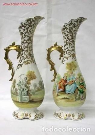 Antigüedades: Pareja de jarrones franceses Sevres - Foto 2 - 233755830