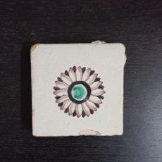 Antigüedades: AZULEJO POLÍCROMO CATALÁN DEL GIRASOL SIGLO XVIII. Lote 233758320