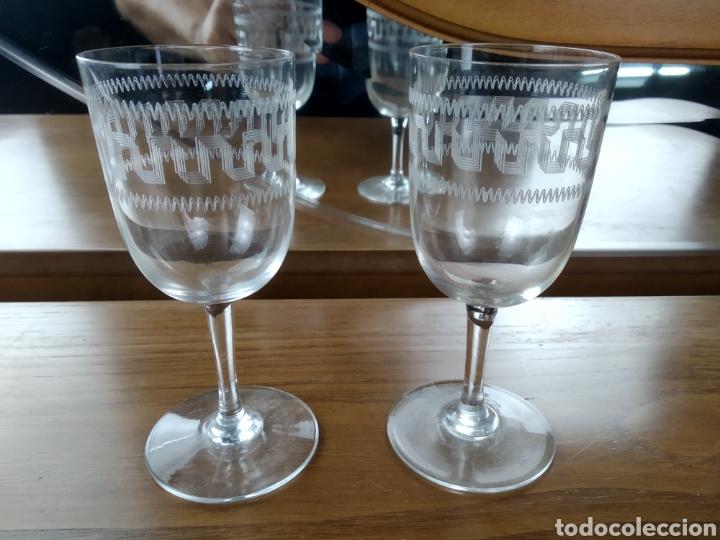 BACCARAT PAREJA PEQUEÑAS COPAS CRISTAL FILIGRANA. (Antigüedades - Cristal y Vidrio - Baccarat )