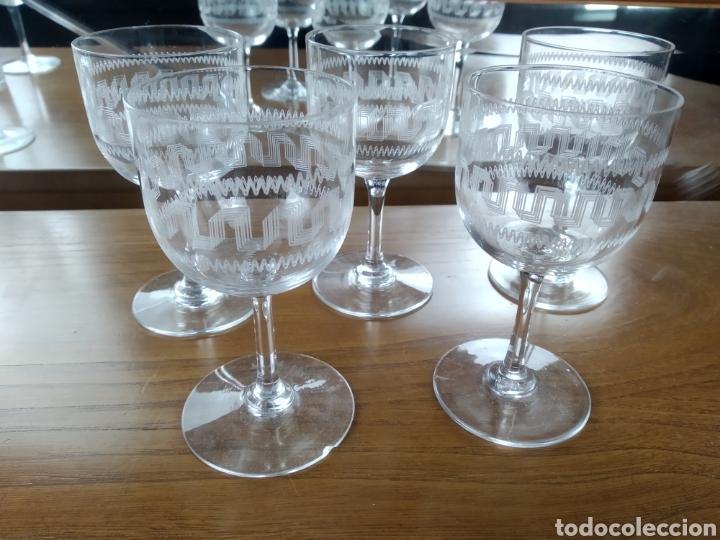 BACCARRAT COPAS CRISTAL FINO GRABADO FILIGRANA. (Antigüedades - Cristal y Vidrio - Baccarat )