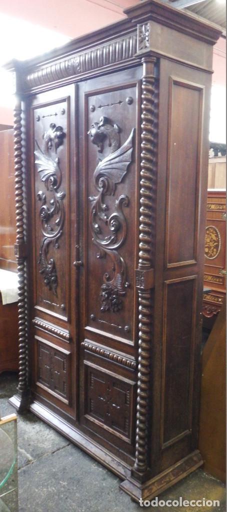 ARMARIO ANTIGUO MADERA DE PINO (Antigüedades - Muebles Antiguos - Armarios Antiguos)