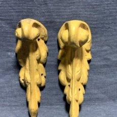 Antigüedades: 3 SABOT BRONCE MUEBLE ESCRITORIO MESA ESTILO LUIS XV NAPOLEON III S XIX XX 10X3C. Lote 233825560