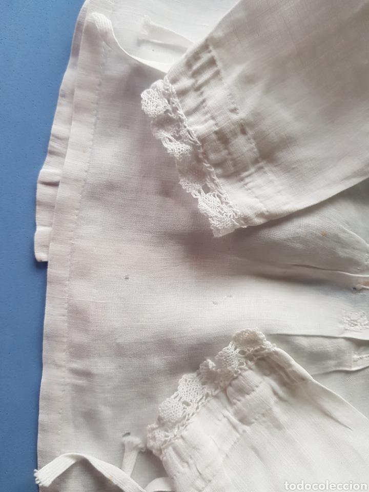 Antigüedades: Blusa de Bebé, Organza y puntilla de bolillo, años 1920-30 - Foto 2 - 233856160