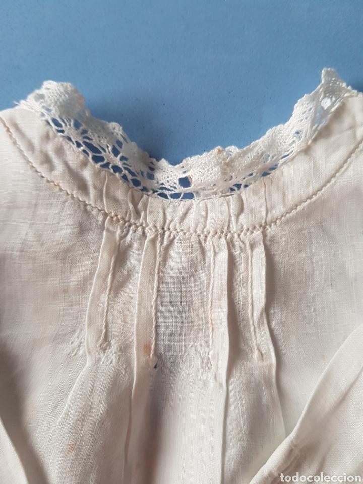 Antigüedades: Blusa de Bebé, Organza y puntilla de bolillo, años 1920-30 - Foto 3 - 233856160
