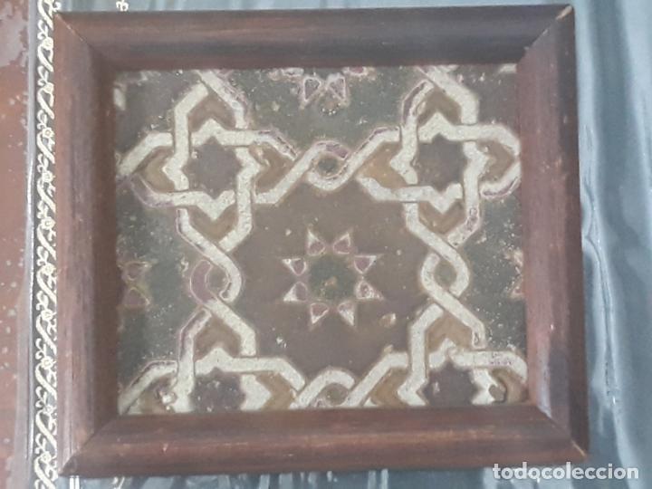Antigüedades: AZULEJO ANTIGUO DE TOLEDO - SIGLO XV - ARISTA - LACERIA ARABE / MUDEJAR. - Foto 9 - 233921540