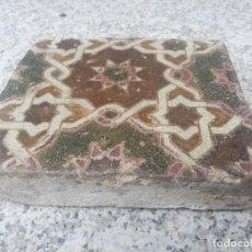 Antigüedades: AZULEJO ANTIGUO DE TOLEDO - SIGLO XV - ARISTA - LACERIA ARABE / MUDEJAR.. Lote 233921540