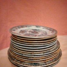 Antigüedades: LOTE DE 16 PLATOS DE PORCELANA CHINA,SIRCA 1850/1900,Nº 6369. Lote 233953145