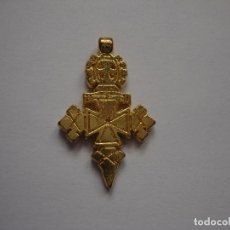 Antigüedades: CRUZ COPTA DE ETIOPIA DORADA DE LA COLECCION CRUCES HISTORICAS ESTADO PERFECTO. Lote 203779681