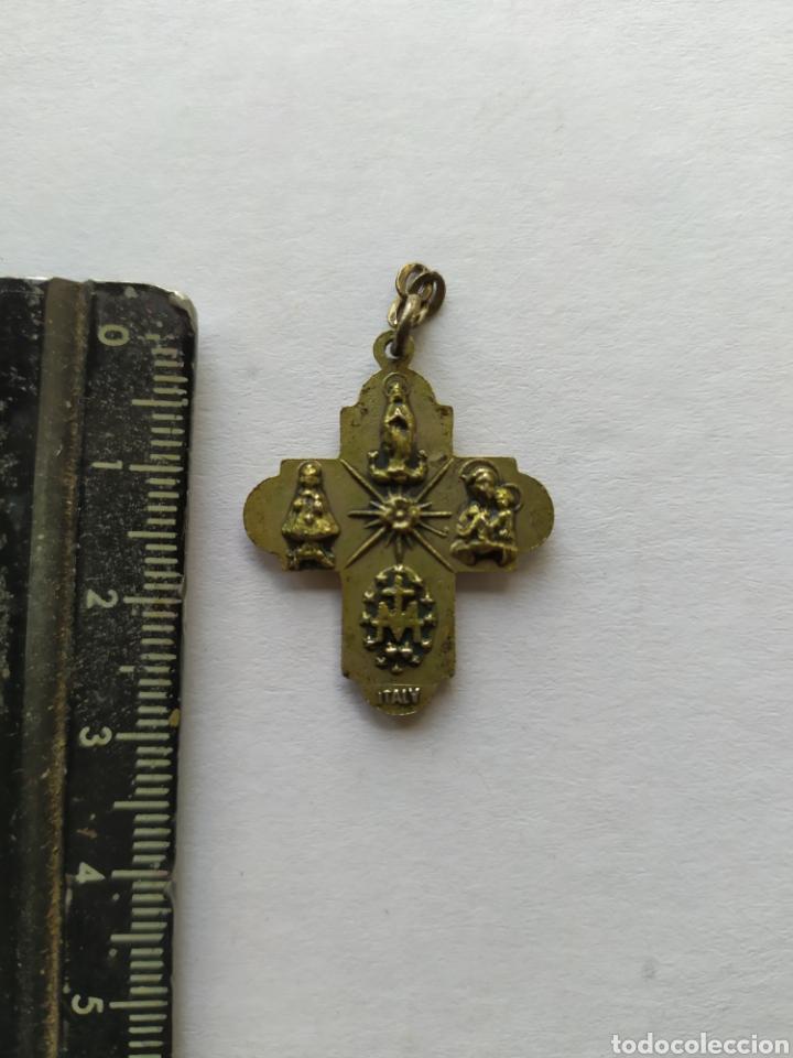 Antigüedades: ANTIGUA CRUZ CON IMÁGENES EN RELIEVE - Foto 4 - 234115615