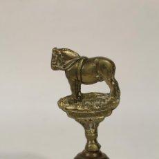 Antigüedades: CAMPANA CABALLO DE BRONCE. Lote 234156750