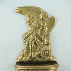 Antigüedades: BENDITERA AGUABENDITERA DE METAL EXCELENTE OBJETO DE DECORACION RELIGIOSA. Lote 234170250
