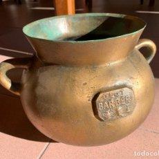 Antigüedades: ESPECTACULAR ANTIGUA OLLA BARBERI, OLOT, EN BRONCE. VER MEDIDAS. PIEZA DE COLECCIONISTA. Lote 234275305