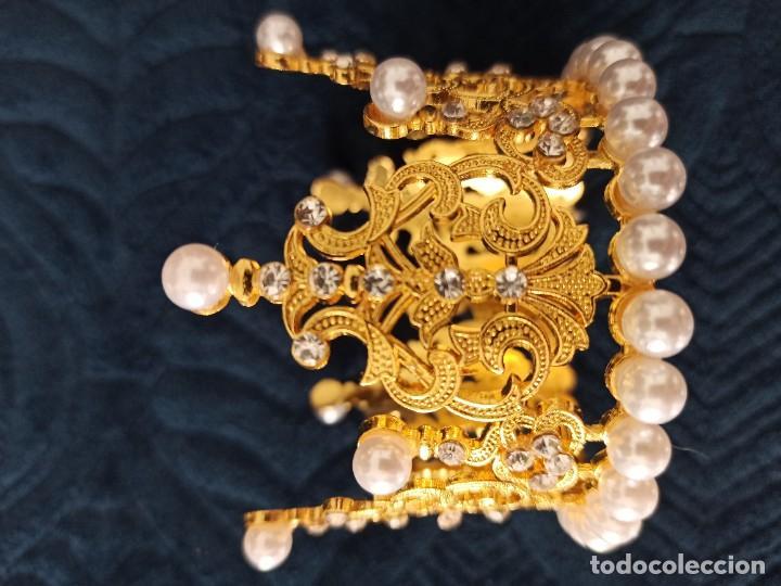 Antigüedades: CORONA PARA IMAGEN DE CRISTO O VIRGEN - Foto 4 - 263033385
