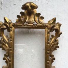 Antiguidades: MARCO CORNUCOPIA EN MADERA TALLADA. Lote 234322025