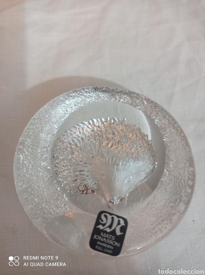 ADORNO DE CRISTAL FIRMADO (Antigüedades - Cristal y Vidrio - Otros)