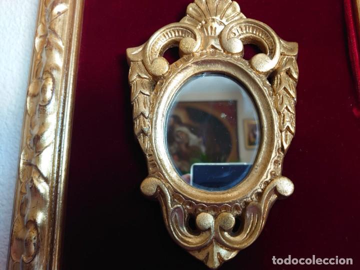 Antigüedades: 3 ESPEJOS CORNUCOPIAS EN ESTUCO ENMARCADAS - Foto 2 - 234355550