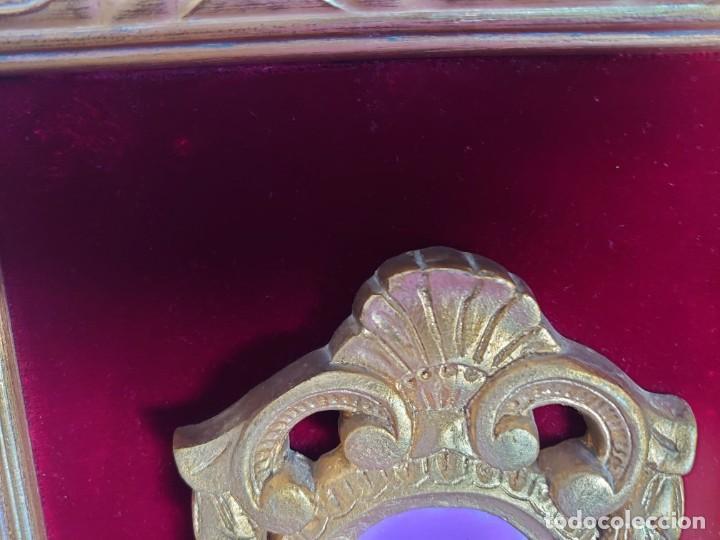 Antigüedades: 3 ESPEJOS CORNUCOPIAS EN ESTUCO ENMARCADAS - Foto 8 - 234355550