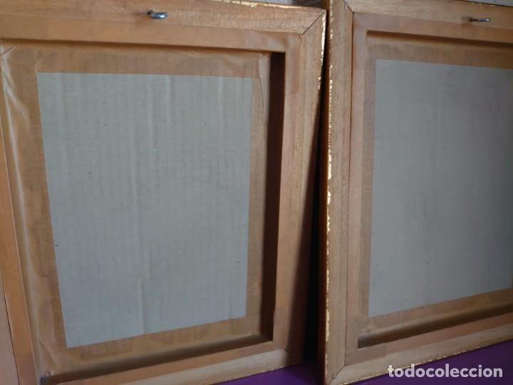 Antigüedades: 3 ESPEJOS CORNUCOPIAS EN ESTUCO ENMARCADAS - Foto 11 - 234355550