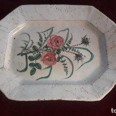 Antigüedades: FUENTA PLATO EN CERAMICA DE MANISES DE MEDIADOS XIX RARA. Lote 234363900
