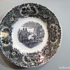 Antigüedades: PLATO HONDO 22 CM - PICKMAN - LA CARTUJA DE SEVILLA. Lote 234364560