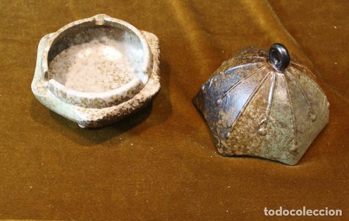 Antigüedades: Recipiente chino, alabastro, con caja original. 170 mm de altura y 150 mm de diámetro, - Foto 2 - 234365865