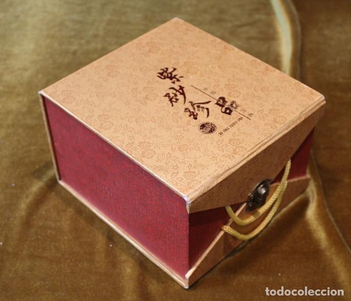 Antigüedades: Recipiente chino, alabastro, con caja original. 170 mm de altura y 150 mm de diámetro, - Foto 5 - 234365865