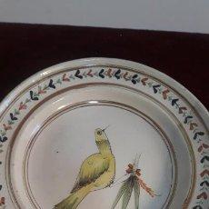Antigüedades: PLATO EN CERAMICA DE RIBESALBES SIGLO XIX RESTAURADO. Lote 234367865