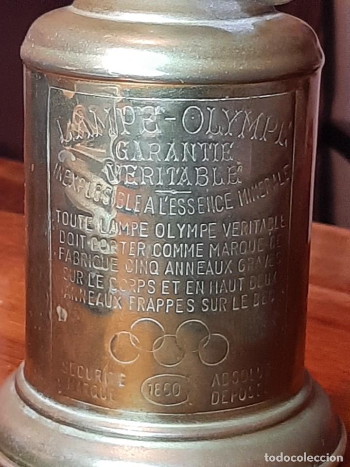 Antigüedades: FAROLILLO, QUINQUÉ LAMPE OLYMPE, COMPLETO, CON MECHA, CON TULIPA, EN PERFECTO USO. GRABADO 1860 - Foto 5 - 234382850