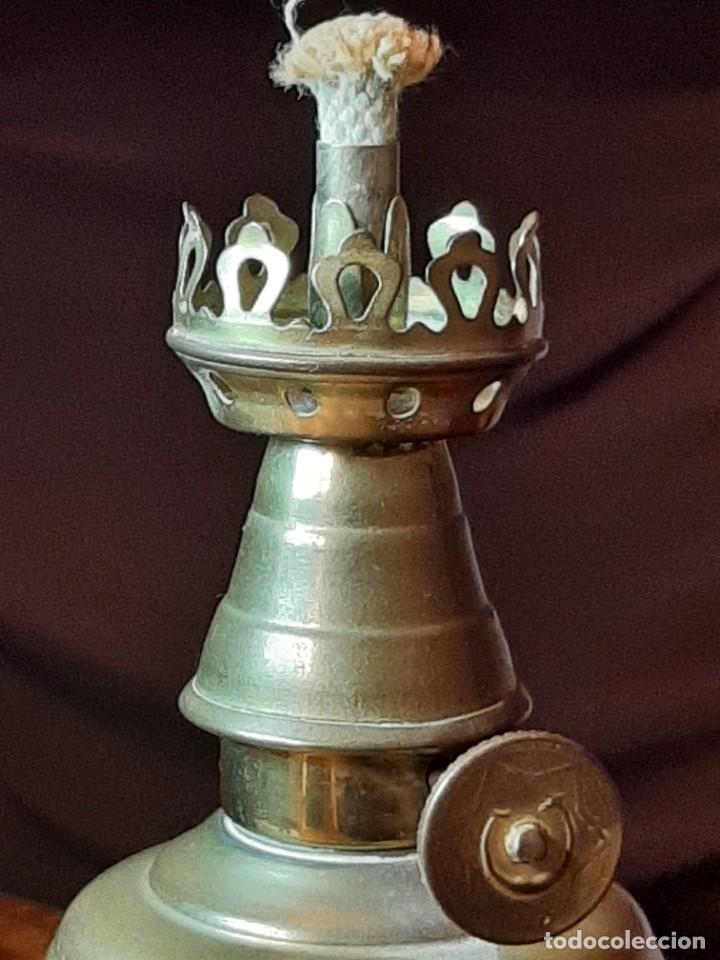 Antigüedades: FAROLILLO, QUINQUÉ LAMPE OLYMPE, COMPLETO, CON MECHA, CON TULIPA, EN PERFECTO USO. GRABADO 1860 - Foto 9 - 234382850