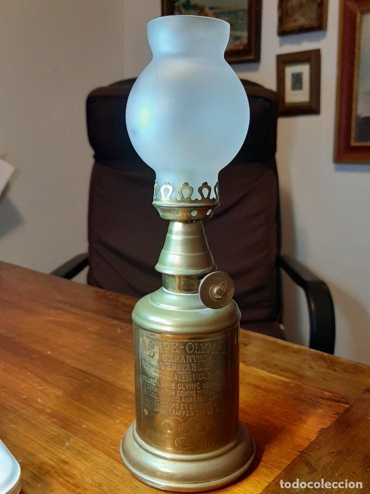 Antigüedades: FAROLILLO, QUINQUÉ LAMPE OLYMPE, COMPLETO, CON MECHA, CON TULIPA, EN PERFECTO USO. GRABADO 1860 - Foto 10 - 234382850