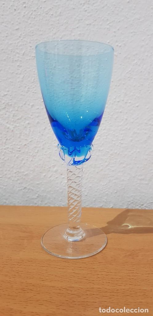 Antigüedades: Juego 12 copas 100 ml. - Cristal Murano - Foto 3 - 234411210