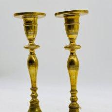 Antigüedades: PAREJA DE CANDELABROS. Lote 234425335