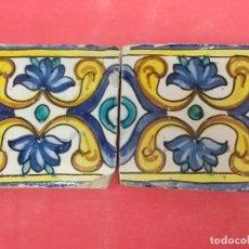 Antiguidades: LOTE DE 2 AZULEJOS DE MANISES , SIGLO XV- XVI. Lote 234426625