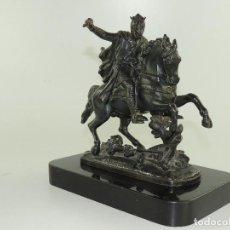 Antigüedades: BONITA FIGURA DE RICHARD I SOBRE CABALLO. Lote 234479680