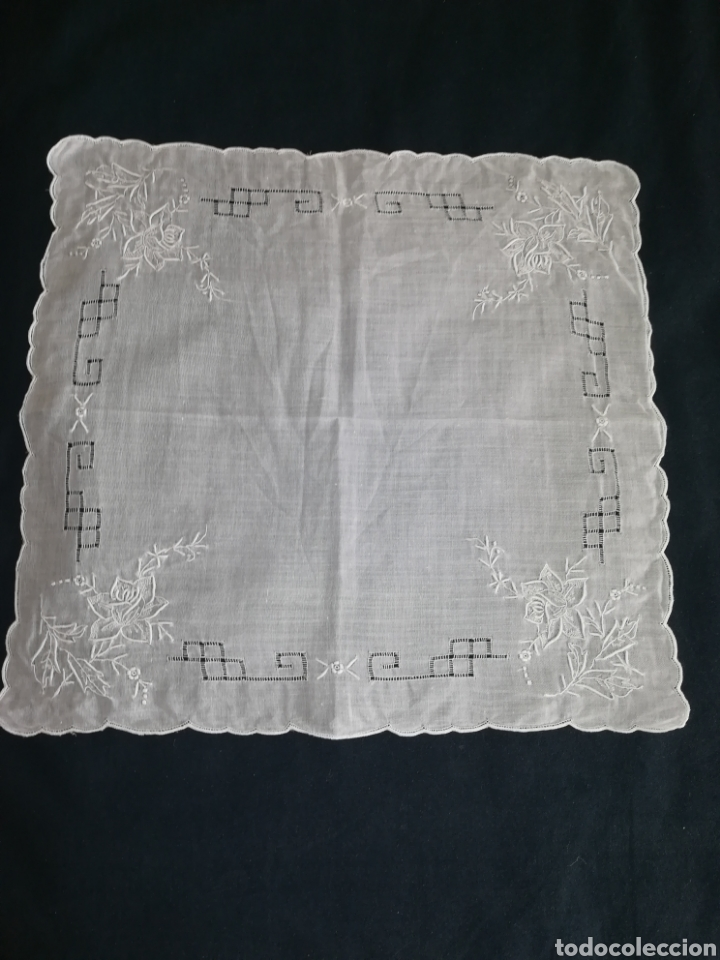 PAÑUELO HILO (Antigüedades - Moda - Pañuelos Antiguos)