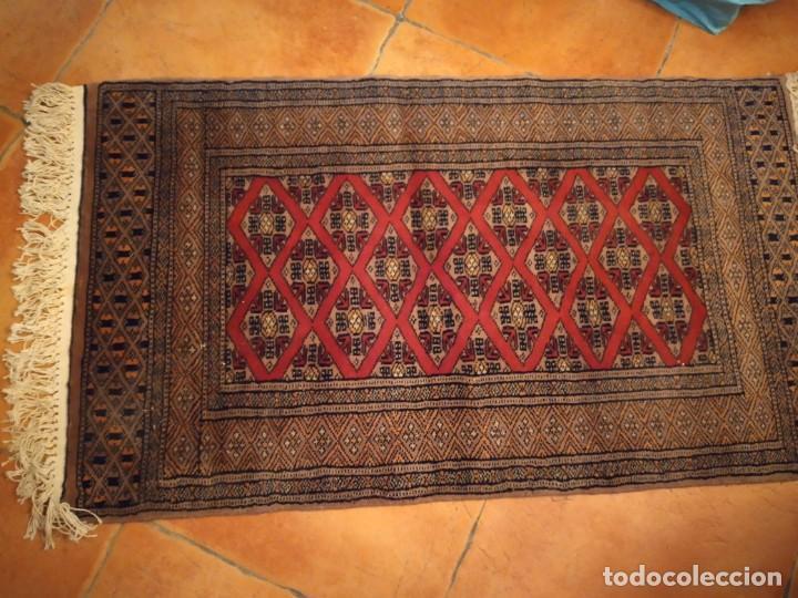 Antigüedades: Preciosa alfombra persa de Pakistán, tonos ocres y rojos. - Foto 2 - 234561275