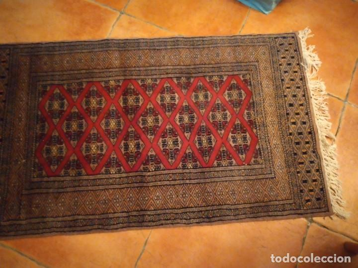 Antigüedades: Preciosa alfombra persa de Pakistán, tonos ocres y rojos. - Foto 3 - 234561275