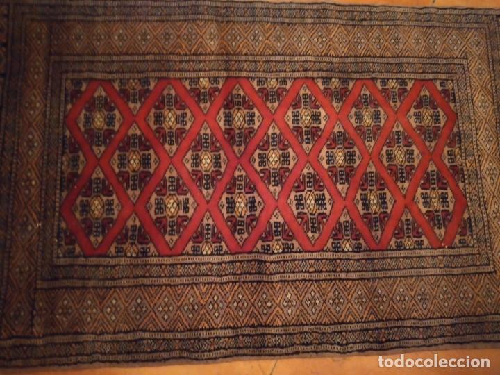 Antigüedades: Preciosa alfombra persa de Pakistán, tonos ocres y rojos. - Foto 4 - 234561275