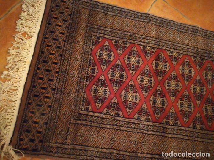 Antigüedades: Preciosa alfombra persa de Pakistán, tonos ocres y rojos. - Foto 5 - 234561275