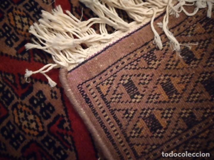Antigüedades: Preciosa alfombra persa de Pakistán, tonos ocres y rojos. - Foto 7 - 234561275