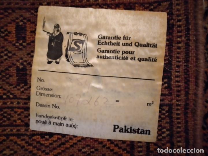 Antigüedades: Preciosa alfombra persa de Pakistán, tonos ocres y rojos. - Foto 8 - 234561275