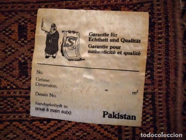 Antigüedades: Preciosa alfombra persa de Pakistán, tonos ocres y rojos. - Foto 9 - 234561275