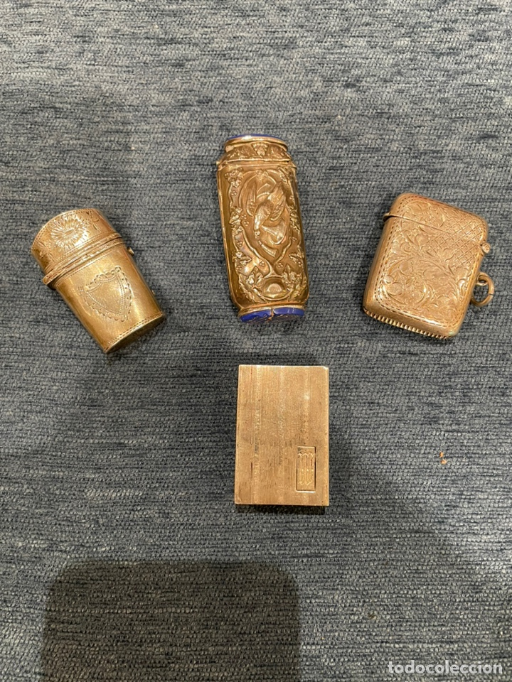 LOTE DE CUATRO CERILLERAS DE PLATA (Antigüedades - Platería - Plata de Ley Antigua)