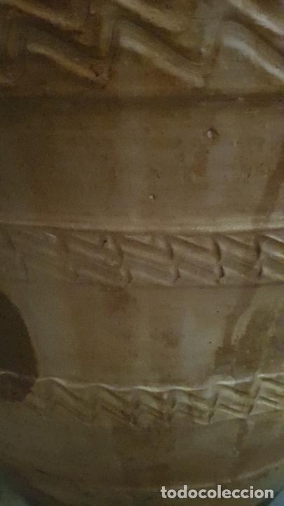 Antigüedades: TINAJA DE ACEITE 42X75 CM ALGUN DESPERFECTO - Foto 8 - 234565835