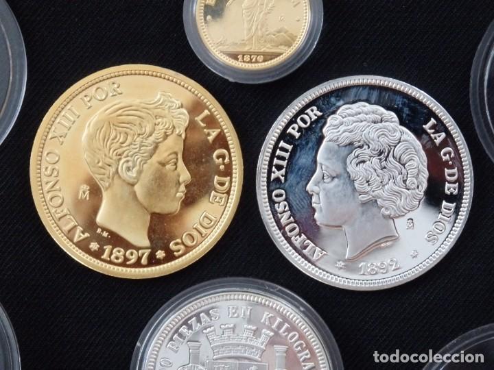 Antigüedades: Emisión de 24 monedas de plata que forman la historia de la peseta. - Foto 2 - 234585015