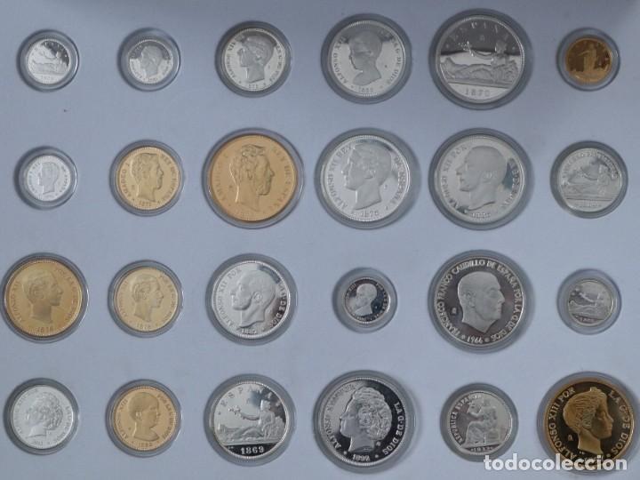 Antigüedades: Emisión de 24 monedas de plata que forman la historia de la peseta. - Foto 6 - 234585015